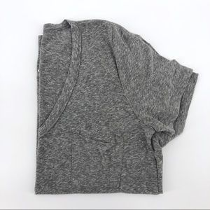 Anthropologie t.la Pocket Tee Grey Cotton Shirt
